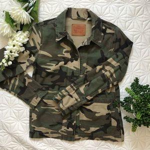 Levi's Camo Military Utility Jean Jacket Like New